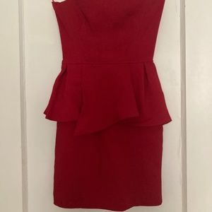 The Couples red cocktail dress